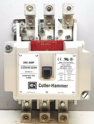 New Cutler-Hammer C25Kne3200A Definite Purpose Contactor 200A Commercial Contact
