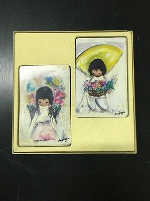 Vintage Bridge Degrazia Plastic Coated TDC 1975 Playing Card Deck Cards Set USA
