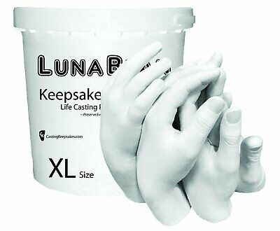Luna Bean Keepsake XL plaster statue Kit Wedding Family Mom Baby Hands Mold USA
