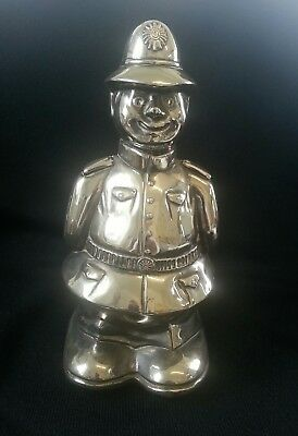 Vintage large  silver plated policeman money box.