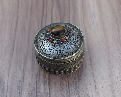 Vintage Antique Afghan Kuchi Jewelry Box Ethnic Tribal Handmade Traditional Old