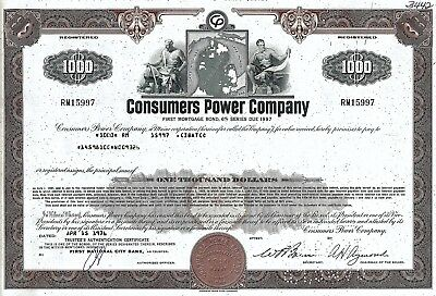 Consumers Power Company, 1976, 6% First Mortgage Bond due 1997 (1.000 $)