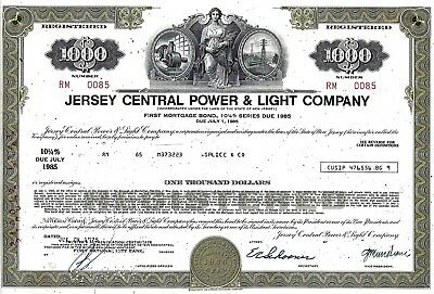 Jersey Central Power & Light Company, 1975, 10 1/4% Mortg. Bond 1985 (5.000 $)