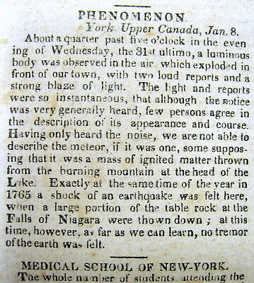 1818 Ohio newspaper with 2 very early reports of UFO / FLYING SAUCER sightings ?