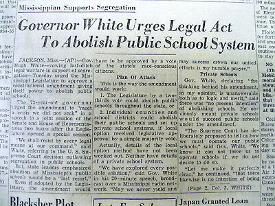 5 1954 AL newspapers w SOUTH REACTION to Supreme Court RACIAL INTEGRATION RULING