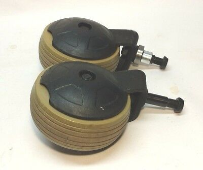 Pride Jazzy 600 Power Wheelchair front Caster Wheels Covers and mounting bracket