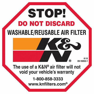 89-16063-1 K&N Decal/Sticker Stop Do Not Discard New And Genuine KN 89-16063-1.