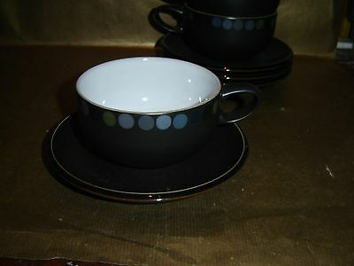 denby jet dots large breakfast cup and saucer (several available)