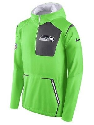 Nike Alpha Fly Rush 1 2 zip jacket Seattle Seahawks licensed NFL NWT 2XL   160 8a239153e