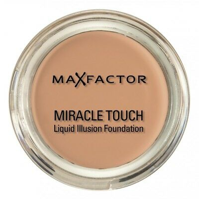 New Max Factor Miracle Touch Liquid Illusion Foundation Sand 60 for women
