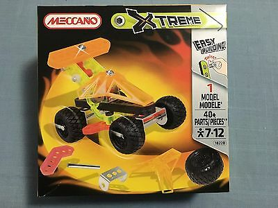 Meccano Xtreme 1822B 1 Model 40 Pieces New Sealed