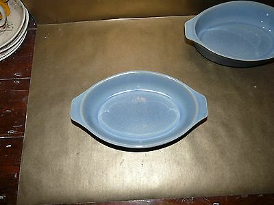 denby blue jetty small individual oval roasting / baking tray / gratin dish