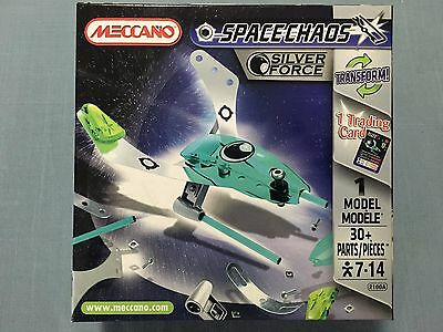 Meccano Silver Force 2100A 1 Model 30 Pieces 1 Trading Card New Sealed
