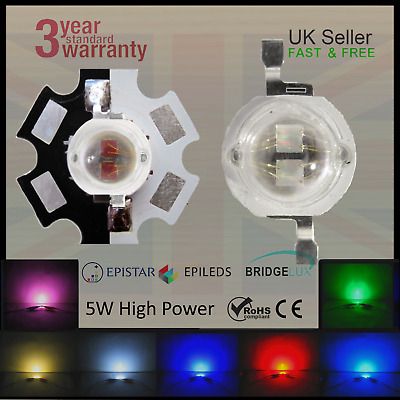 5W Epistar Bridgelux Epileds LED Grow Aquarium Lights PCB Mars Hydro Chip 1400mA