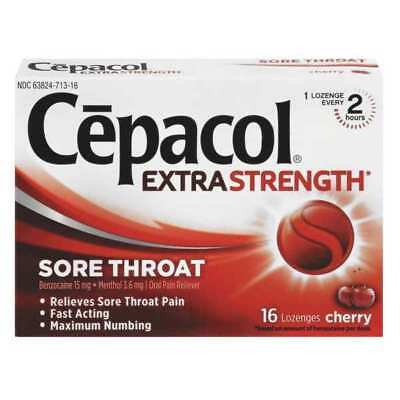 CEPACOL REC 71016 Throat Lozenges,Cherry,PK384