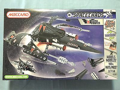 Meccano Space Chaos Dark Pirates 6102 150 Pieces 3 Trading Cards New Sealed