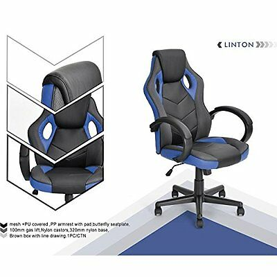 Gaming Chair Racing Workstation Computer Chair Coavas Office High Back PU Swivel