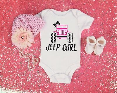 Jeep Girl Baby Shower Idea Boy Toddler Clothes Romper Bow Cute