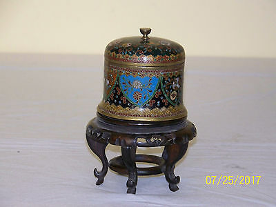 Antique Qing Dy c1800's Chinese Cloisonne Tea Caddy