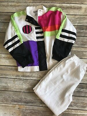 Vtg LAVON Windbreaker Track Suit Jacket Pants Women's Vintage Petite 80s 90s