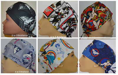Wonder Woman Collection Traditional Unisex Surgical Scrub Hat Chemo Cap