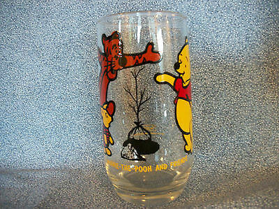 "Disney Winnie The Pooh & Friends Sears Promotional Glass ""Planting A Tree"""