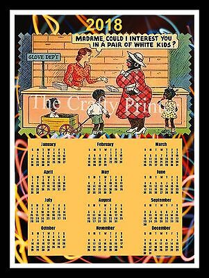 """2018 CALENDAR MAGNET - Black Americana -  """"Interested in a pair of white kids?"""""""