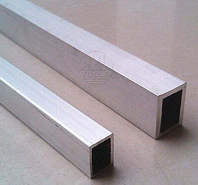 Select 20x20 20x30 20x40mm 6061 Aluminum Square Tube L: 100mm - 600mm