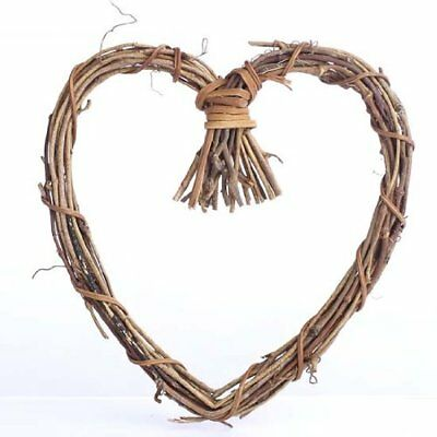Natural Twig Grapevine Heart Shaped Wreaths for Your Decorating and Craft Projec