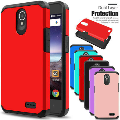 For ZTE Maven 3/ Z835 Phone Case Shockproof Hybrid Rubber Hard Impact Slim Cover