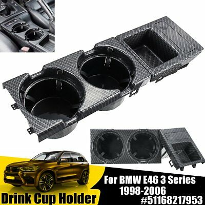 Center Console Drink Cup Tray Holder Coin Storage Box For BMW E46 98-06 3 Series
