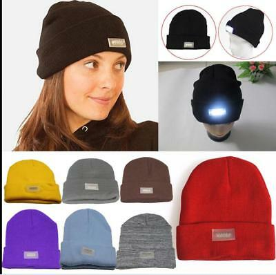 d933ca2e9a6 5 LED Lighted Cap Hat Winter Warm Beanie Angling Hunting Camping Running  Sports
