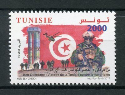 Tunisia 2017 MNH Battle of Ben Guerdane Victory Terrorism 1v Set Military Stamps