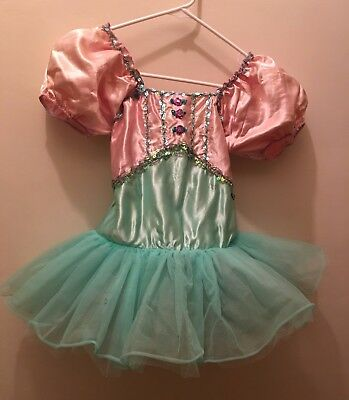 Lot of 7 available.  Cute ballet pink /green performance tutu for girls