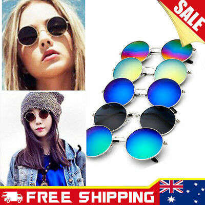 Round Metal Frame Sunglasses Unisex Vintage Retro Glasses Men Women Eyewear Hot