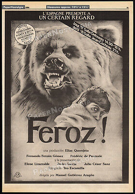 FEROZ!__Original 1984 Trade print AD movie promo / poster__Fernando Fernan Gomez