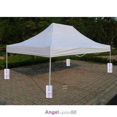 4pcs White Pop up Canopy Tent Shelter Weight Feet Sand Bags for Instant Leg