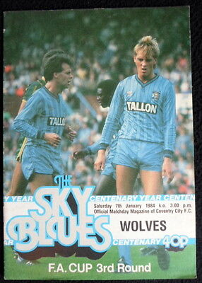 Coventry  City v  Wolverhampton Wanderers    fa cup round 3  7-1-1984