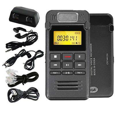 Portable Digital 8GB Audio Voice Recorder LCD Metal Dictaphone MP3 Player U Dish