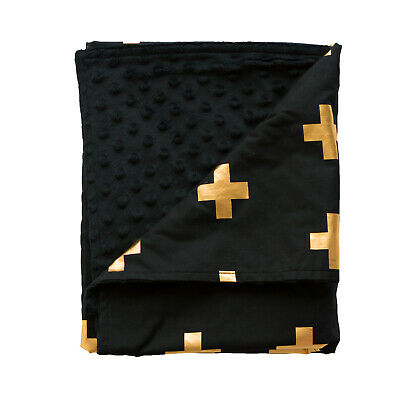 Bambella Designs Pram Blanket- Gold Cross