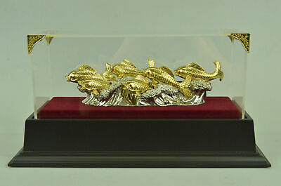 Bronze Gold craft/24K gold gift/advance gift handiwork crafts 6 fish indoor MB