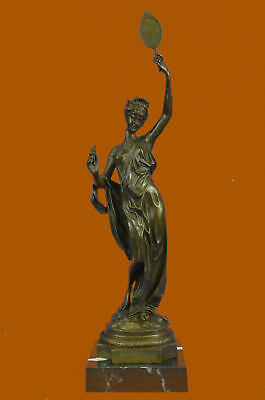 Bronze Ausrtia Vintage Pure Spelter Figure Dancer Snake Charmer Hot Cast MB