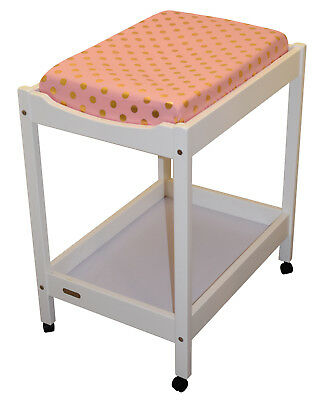 Bambella Designs Change Table Mat Cover- Coral Gold Polka