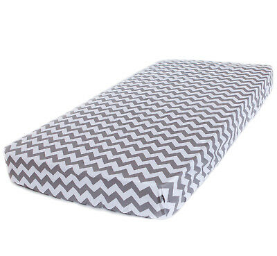Bambella Designs Fitted Cot Sheet- Grey Chevron