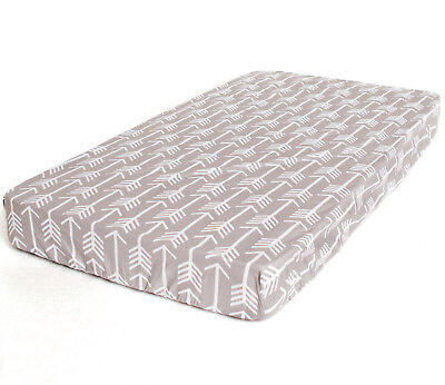 Bambella Designs Fitted Cot Sheet- Grey Arrow