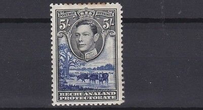 Bechuanaland  1938  S G 127  5/-  Value Mh Cat £48  Toned Perfs To Top