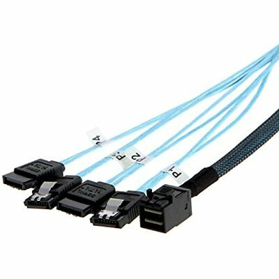 MiniSAS Cables Internal HD Mini (SFF-8643 Host) 4x SATA (Target) Cable,SFF-8643