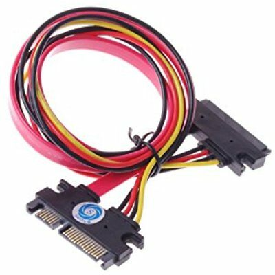 SATA Cables SMAKN() 22-pin (7+15) Sata Male To Female Data And Power Combo M/f