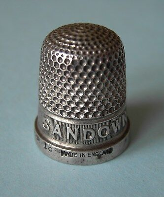 1930s 'SANDOWN' SOLID SILVER THIMBLE, HENRY GRIFFITH & SON