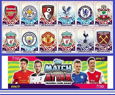 Choose Your MATCH ATTAX 2016 2017 Topps 16/17 CLUB BADGE Cards CREST Card